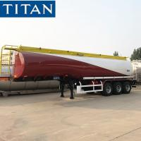 China TITAN 33000 Liters Fuel Tanker Trailer With 3 Inch Manhole Cover on sale