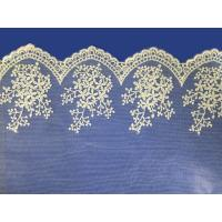 Best African lace fabrics Embroidery Lace Fabric cord guipure white lace fabric wholesale