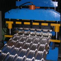 Best 8-12m / Min Roof Panel Roll Forming Machine , Metal Glazed Tile Forming Machine wholesale
