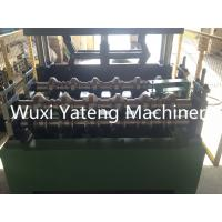 Quality Trapezoid Roofing Sheet Bending Machine , Two Stands Feeding Rollers Precision Metal Roofing Roll Former Machine wholesale