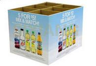 Best Large Drink Square Carton Cardboard Floor Display With CMYK / Pantone Colors Printing wholesale