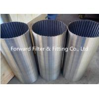 Quality Galvanized / Carton / Stainless Steel Wedge Wire Screen For Mine Sieving Mesh wholesale