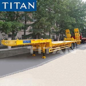China 2 Axle lowbed semi trailer TITAN 30-40 Ton heavy duty equipment trailers on sale