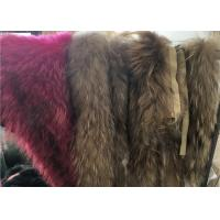 Best Natural Color Top Luxurious Raccoon Fur Collar Scarf Trim For Garment wholesale