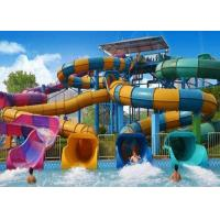 Best Colorful Custom Water Slides , Theme Park Commercial Fiberglass Water Slides wholesale