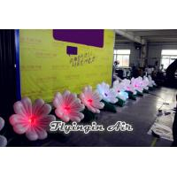 Best 10m Led Inflatable Wedding Flower Chain with Blower for Happy Day wholesale
