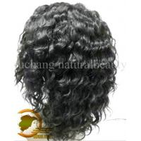 Best Human Hair Front Lace Wigs Deep Curly Natural Color 1b# Fast Delivery wholesale