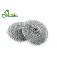 Best Galvanized Steel Wire Mesh Scouring Pad , Metal Dishwasher Scrubber 12g/ Pcs wholesale