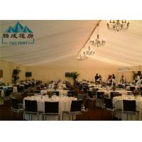 Buy cheap 20m Width Fire Retardant A Shaped White Wedding Event Tents / Outdoor Wedding Reception Tent from wholesalers