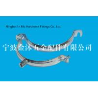 Quality M8 / M10  Hole Metal Tube Clamps With Electro Galvanized Surface , Bandwidth 20mm wholesale