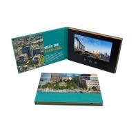 Advertising Promotion Video Brochure Card 7 Inch Lcd Video Book Four Color Printing