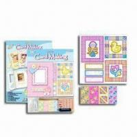 Best Handicraft Card Kit with Printed Card, String, Rubber Stamp, Sponge Label and Color Ink wholesale