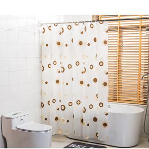 Best Biodegradable PEVA Stylish Waterproof Shower Curtain With 12PCS Hooks wholesale