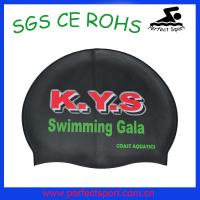 Best new design full color print colorful silicone swim cap wholesale