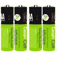 Best Cmagic hot selling micro USB Smart rechargeable USB AA battery customized battery cover AA battery USB battery wholesale