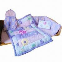 Buy cheap 6 pieces 100% cotton embroidery baby quilt set from wholesalers