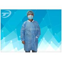 Best Lab / Pharmaceutical Cleanroom Disposable Protective Clothing White Dust Proof Breathable wholesale