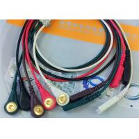 Best LL Style ECG Monitor Cable , 5 Leads Snap AHA Ecg Cables And Leadwires wholesale