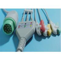 Best 10 Pin Philips Ecg Cables , TPU Philips 3 Lead Ecg Cable For Snap / Clip wholesale