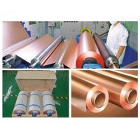 China CCL Copper Sheet Metal Roll For CCL Copper Clad Laminate Red Color on sale