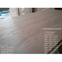 China Red Oak Fancy Plywood 1220 x 2440mm on sale