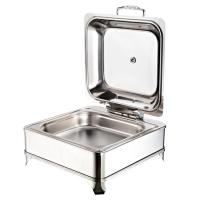 Best Stainless Steel Square electric hydraulic chafing dishes with glass windows,6L wholesale