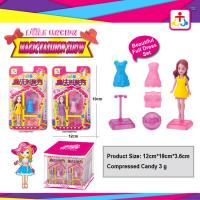 Best Magic fashion show toys for girl with press candy wholesale