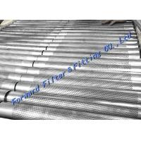 Quality Margin Hole Free Area Reserved For Longitudinal Welded Perforated Metal Tube / SS304 316 wholesale