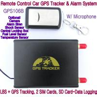 Best GPS106B Car Safety Vehicle GPS Tracker W/ Armed by remote-controller & geo-fencing Alarm wholesale