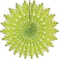 China 20cm Green Rice Paper Decorations on sale