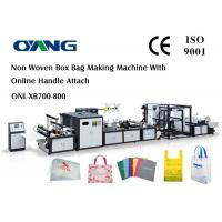 Best Multi Function Auto Non Woven Box Bag Making Machine With Handle Fix Device wholesale