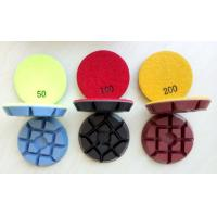 Best 3 Inch 75mm Colourful Concrete Floor Polishing Pads With 11mm Thickness wholesale