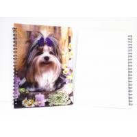 Best Flip A4 , A5 , A6 Size 3D Lenticular Notebook Cover For Wrinting wholesale