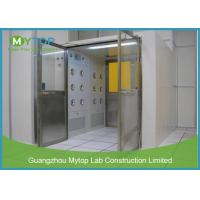 Best Electric Interlock Cargo Goods Air Shower Tunnel With Double Doors For Cleanroom wholesale