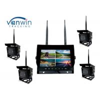 Cheap 2.4G 4CH Car Video Wireless DVR system 7 Inch Monitor With 128GB SD Card for sale