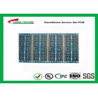 Best Multilayer Quick Turn PCB Prototypes 4 layer FR4 1.2mm Blue Solder Mask Panel Size 160*80mm wholesale