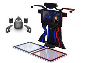 Best Amusement Interactive 9D Vr Shooting Simulator VR Walk Platform For 2 Players wholesale