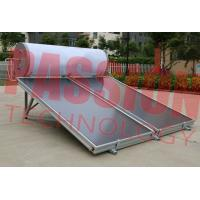 Best 150L Solar Panel Hot Water Heater , Solar Assisted Water Heater Blue Titanium wholesale