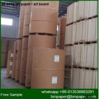 China 80gsm brown extensible sack kraft paper for making shopping bags on sale