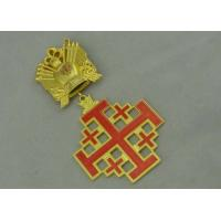 Best 3D Gold Custom Medal Awards , Zinc Alloy Synthetic Enamel Medal wholesale