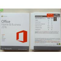 Best Microsoft Office 2016 Home And Business PKC / Retail Version / OEM COA Sticker wholesale