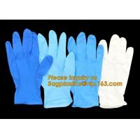 Best Protective Powder Free Examination Nitrile Gloves, Colored Nitrile and Vinyl Blend Disposable Medical Blue wholesale