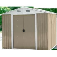 China Easy Build Mini Apex Metal Shed With Double Doors / Zinc Steel Color Board Frame on sale