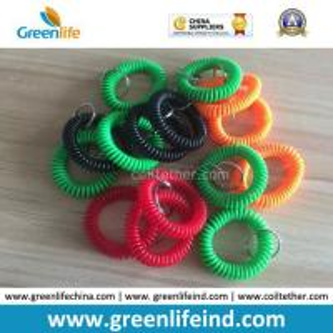 Best Promotional Wholesale Plastic Wrist Coil Key Chain W/Split Ring wholesale