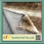 Best Artificial Long Pile Faux Fur Fabric Auto Seat Cover Fabric , Automotive Upholstery Cloth wholesale