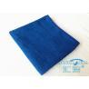 Blue Soft Microfiber Facial Cloths Polyester Washable , Microfiber Hand Towel