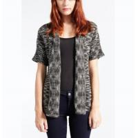 China Marl Color Chunky Cardigan Sweater , Women ' S Size M Short Sleeve Cardigan Sweater on sale