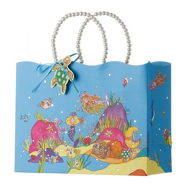 Cheap PP Rope Luxury Custom Printed Gift Bags For Birthday Gift 26cm X 12cm X 32.5cm for sale