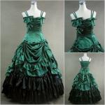 Best Cosplay Civil War Dress Wholesale Custom Made Victorian Dress Luxury Satin Women Gothic Long Dress Lolita Cosplay dress wholesale