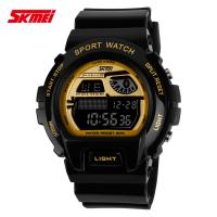 Best LCD Multifunction Digital Wrist Watch With PU Strap Nickel Free wholesale
